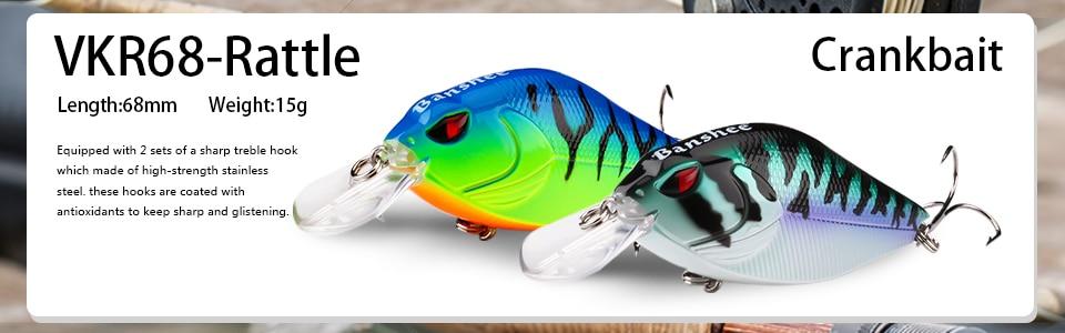 Fishing 1pc hard lure wobbler 16g 7cm vibration crankbati sinking vib swimbait JL Baits, Lures & Flies