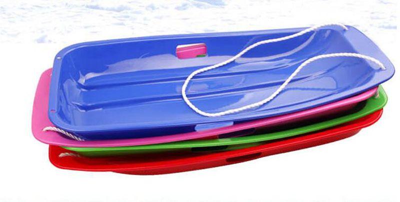 Offre spéciale! Sports de plein air en plastique planches de Ski Luge neige herbe sable planche Ski Pad Snowboard avec corde pour adulte et enfants - 2