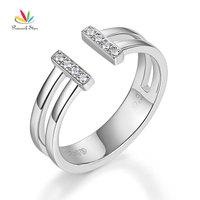 Peacock Star 14K White Gold 585 Wedding Band Anniversary Ring 0.04 Ct Diamond Fine Jewelry