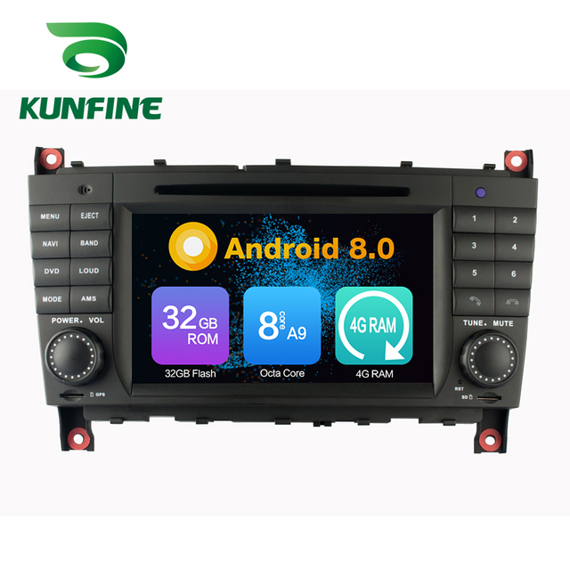 Octa Core 4GB RAM Android 8.0 Car DVD GPS Navigation Multimedia Player Car Stereo for Benz C-Class W203 CLK W209 2004 2005