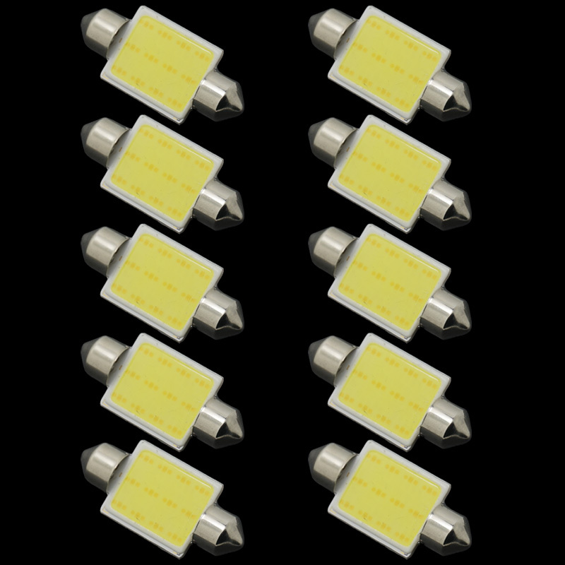 CQD-Light 2017 New Products 10pcs/lot 31mm/36mm/39mm/41mm 12V COB Festoon LED Car Bulb Auto Led Interior Light Lamps parking 2pcs 12v 31mm 36mm 39mm 41mm canbus led auto festoon light error free interior doom lamp car styling for volvo bmw audi benz