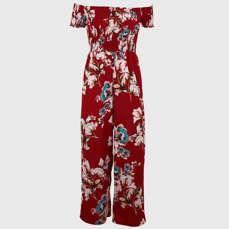 Комбинезон женский комбинезон плюс размер женские Комбинезоны Боди костюмы для элегантной Женская Цветочная Печать Женский Игровой костюм мода nova woman