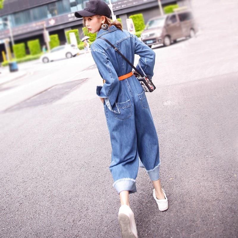 Personnalisé Manches Femme Blue Longues Décontracté Sarouel Hot Barboteuses Qualité allumette Pour Globale À Tout Haute 2019 New Salopette Denim De Mode zSGqpUMV