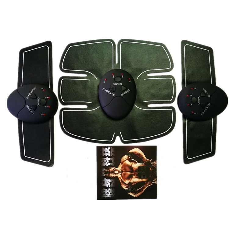 Unisex bauchmuskeln trainer aufkleber ems körper massage stimulator tummy tuck pad training sport übung fitness gewichtsverlust