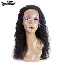 DANCING BEAUTY Lace Front Human Hair Wigs For Black Women Brazilian Hair Afro Curly Wavy Wig Non Remy Hair Natural Color