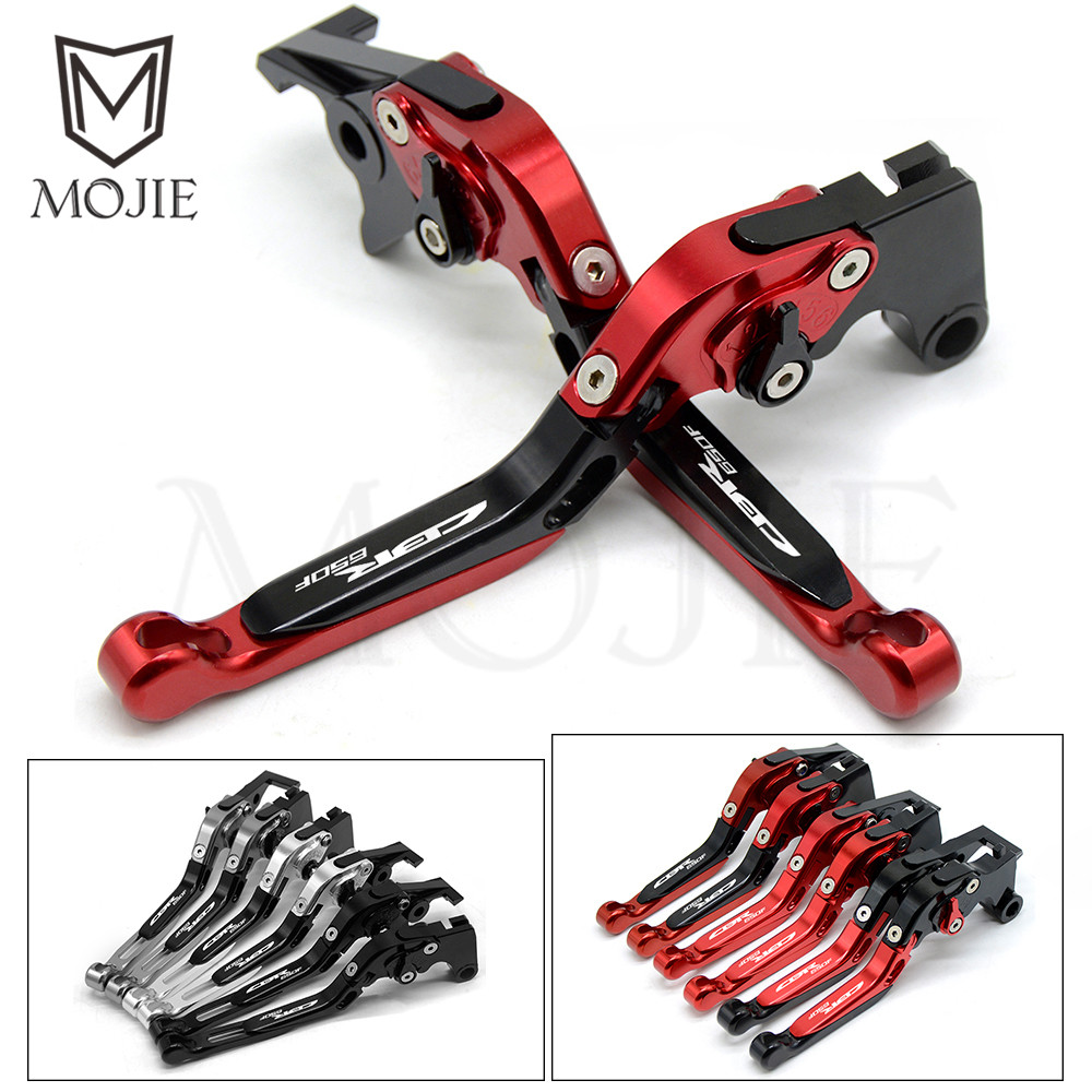 For HONDA CBR650F CBR 650F 650 F 2014 2015 2016 2017 Motorcycle Accessories Adjustable Folding Extendable