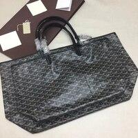 Classic Paris Luxury Brand Design Women Bag Large Capacity Totes Y Print PVC&Cowskin Shoulder Bag High Quality Soft Shopping Bag