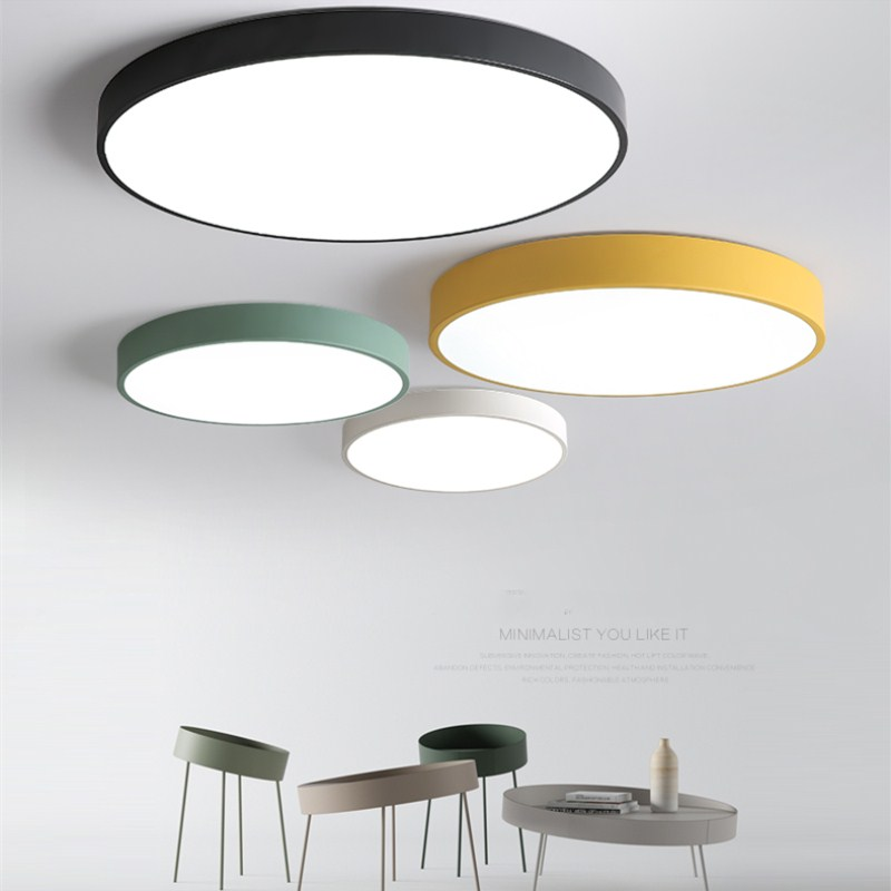 Uitgelezene Moderne Led Plafond Lamp Macaron Ronde Plafond Verlichting YG-55