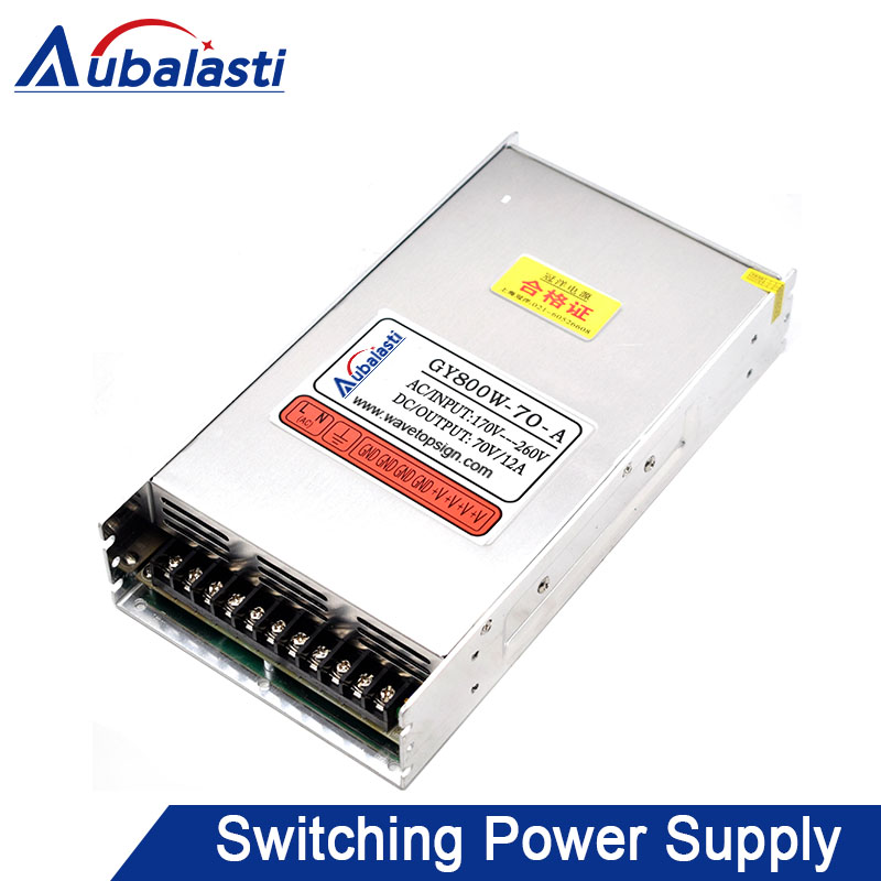 Aubalasti Engraving Machine Switch Power Supply Driving Power 70 90V Adjustable GY800W 70A Current 12A