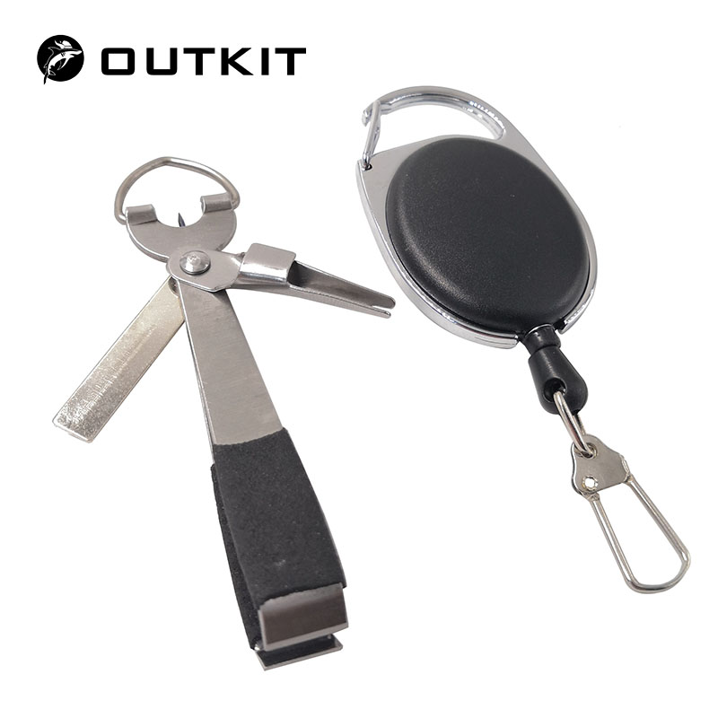 OUTKIT Fishing Stainless Steel Nipper Line Cutter Clipper Hook Eye Cleaner Quick Knot Tools Hook Sharpener Fly Tying Tool Tackle