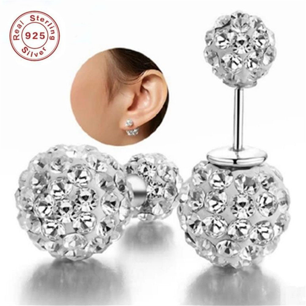 BFQ Women's New Two Wear S925 pure silver earring studs