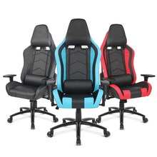 iKayaa US UK FR Stock Gaming Office Chair Computer Chair Height Armrest Adjustable Tilt Swivel Function for Manager Chairs(China)