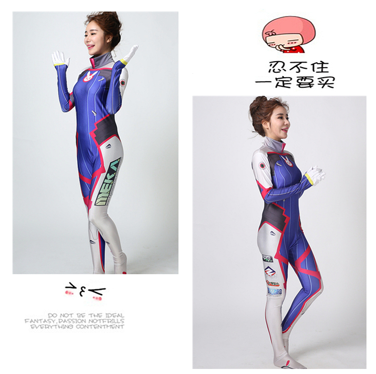 DVA cosplay Song Hana cosplay costume jumpsuit cos d.va cosplay for Child costume made customized 1