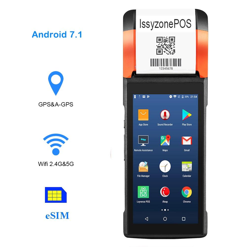 Sunmi PDA Android 58mm Printer Bluetooth Mobile Order Payment QR 1D 2D Barcode Scanner Speaker GPS Wifi Sim Card Slot 1G RAM PDA