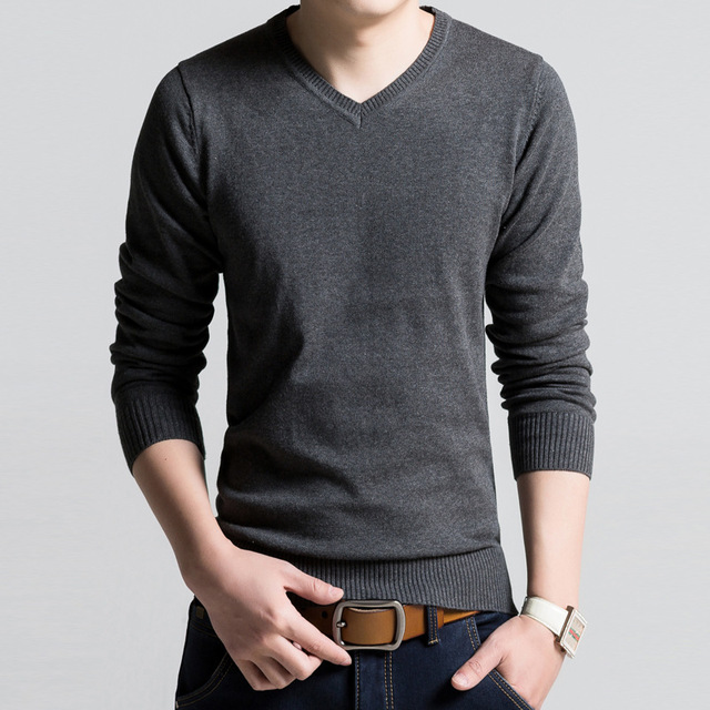 2016 New Autumn Fashion Brand Casual Sweater V-Neck Striped Slim Fit Knitting Mens Sweaters And Pullovers Men Pullover Men