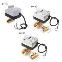 AC 220 V DN15 DN20 DN25 2 Way 3 провода латунь моторизованный шаровой клапан с электрическим приводом Actuato с ручным переключением
