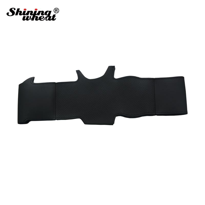 Cubierta del volante de cuero artificial negro brillante para Toyota - Accesorios de interior de coche - foto 5