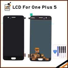 Wyświetlacz LCD LCD Do Oneplus 5 Oneplus5 A5000 Telefon komórkowy Z Ekranem Dotykowym LCD Digitizer montażu Części Zamiennych Z Narzędziami