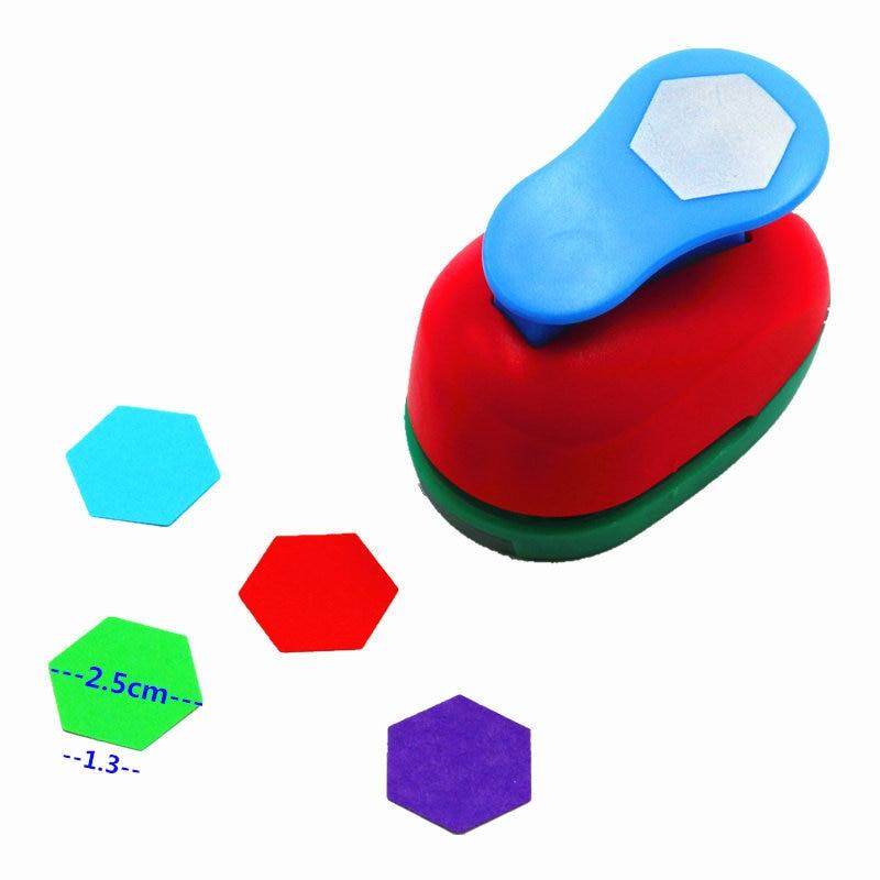 1'' Hexagon Punch  Scrapbook Paper Punch Cutter Scrapbooking Punches Embosser Paper Puncher 8840