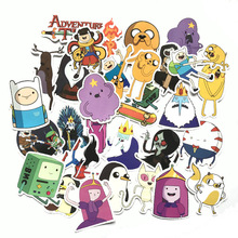 30pcs Adventure Time pasters fans funny decal scrapbooking diy stickers decoration phone laptop waterproof cartoon accessories