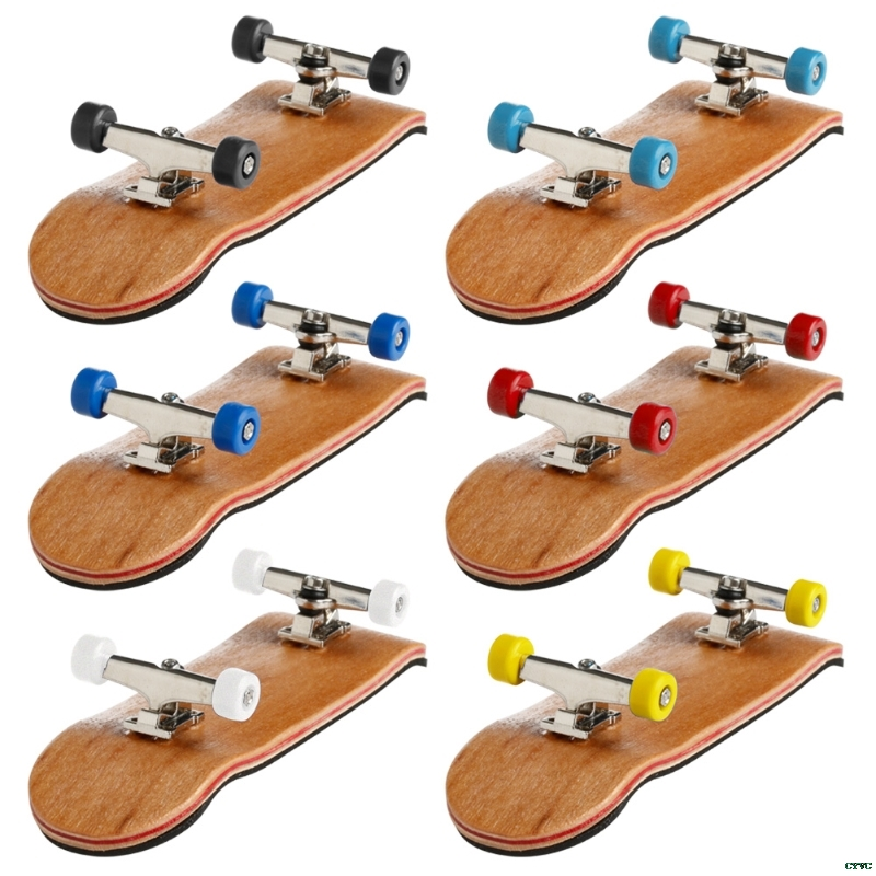 1Set Wooden Deck Fingerboard Skateboard Sport Games Kids Gift Maple Wood Set New