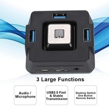 USB 3.0 Multi Function computer the desktop switch With Sound Card 3 in 1 USB 3.0 HUB PC Audio Usb3.0 Plug and play Dock Adapter