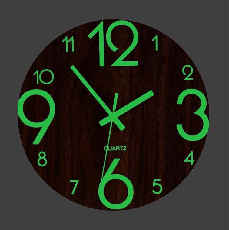 3D Luminous Wall Clock Brief Digital Number Quiet  Hanging Clocks DIY Acrylic Glow Dark Modern Watches Night Lights Decoration