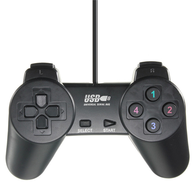 Hot Sale USB 2.0 Black Wired Joystick Gamepad Joypad Game Controller for PC Laptop Computer for XP/for Vista