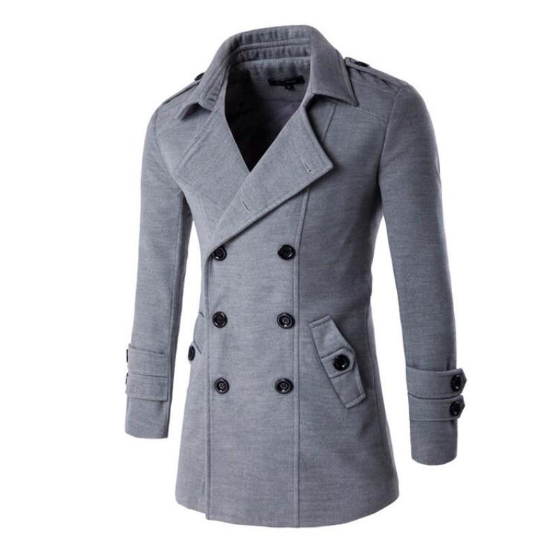 Abrigos Abrigo black Los Nueva Homme Grey Invierno Hombres Trinchera Moda Grey Manteau Light 2019 Otoño dark Breasted Chaqueta Doble De YqSq8w