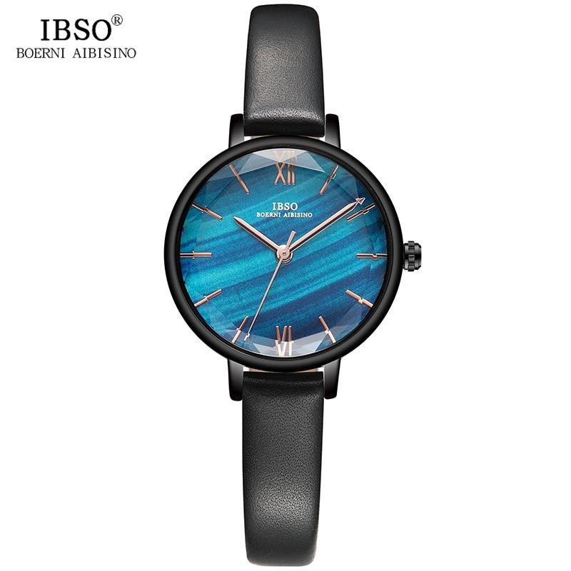 IBSO 10MM Thin Leather Strap Women Fashion Watches 2019 Top Brand Luxury Ladies Quartz Watch Relogio Feminino #S8663L|Women's Watches| |  - title=