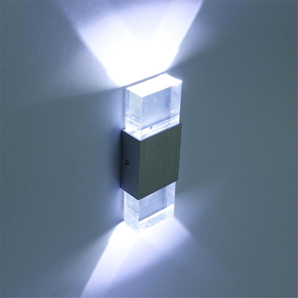 110 v 220 v 6 w led en aluminium acrylique salle de bains lumière arandela wandlamp