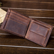 Foreign trade crazy horse leather men's wallets, short leather wallets, leather men's wallets, men's wallets 1549-1