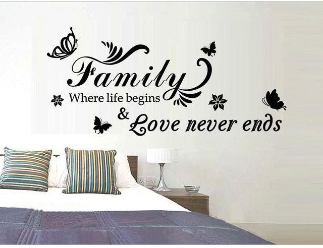 family where life begins creative decoration stickers family