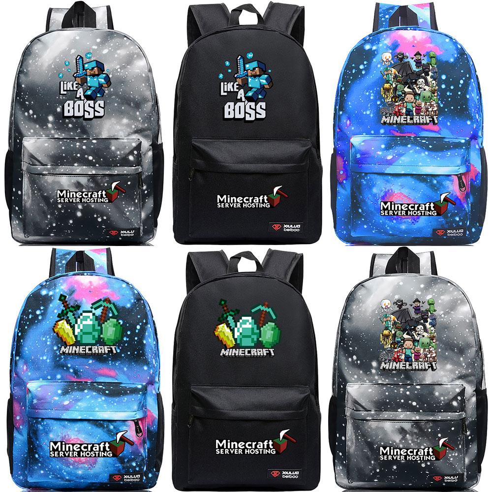 7576c48267d0 ... Hot Games Minecraft Boss Creepers Boy Girl School bag Women Bagpack  Teenagers Schoolbags Canvas Men Student Backpacks on Aliexpress.com