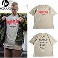 Vfiles Justin Bieber Propósito Tour T Camisa de Los Hombres/Mujeres de Mi Mama No Como Usted Carta Impreso Tops Tee Hip Hop Streetwear
