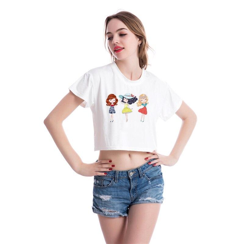 Prajna мультфильм девушка теплопередача Винил для футболки утюжок на переноске патчи для одежды термопереводная наклейка Моющаяся