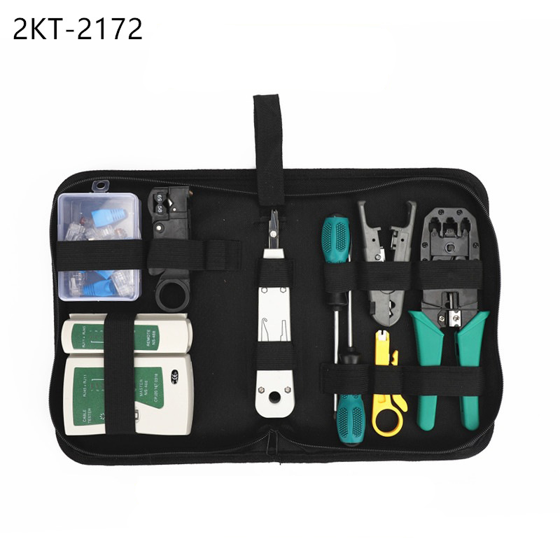 Network cable clamp pliers stripping Crimping pliers/Professional Network Cable Tester RJ45 RJ11 RJ12 CAT5 UTP LAN Cable Tester цена