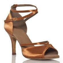 Women's Latin Dance Shoes Zapatos De Baile Ballroom Shoes Woman quality Cow suede Salsa zapatos de baile latino mujer XC-6313 цена