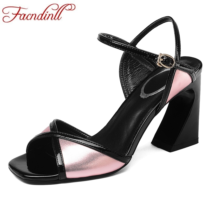 FACNDINLL new fashion genuine leather summer shoes woman gladiator sandals strange style high heels open toe women wedding shoes summer mother shoes woman genuine leather soft outsole open toe sandals casual flat women shoes 2018 new fashion women sandals