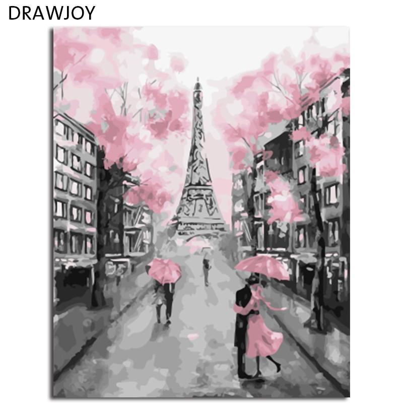 DRAWJOY Gerahmte DIY Wandfarbe Bilder Malen Nach Zahlen Malerei U0026  Kalligraphie DIY Ölgemälde Wohnkultur Für Wohnzimmer
