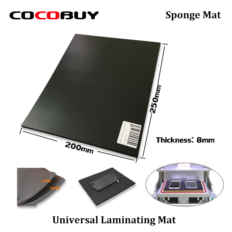 NOVECEL 25x20x0.8cm Soft Laminating Sponge Mat Pad Apply For LCD Touch Screen Laminating Kit Tool For IPhone And Samsung Etc