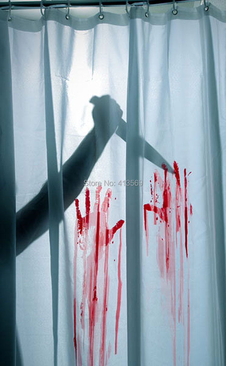 Scary shower curtain - Blood Bath Shower Curtain