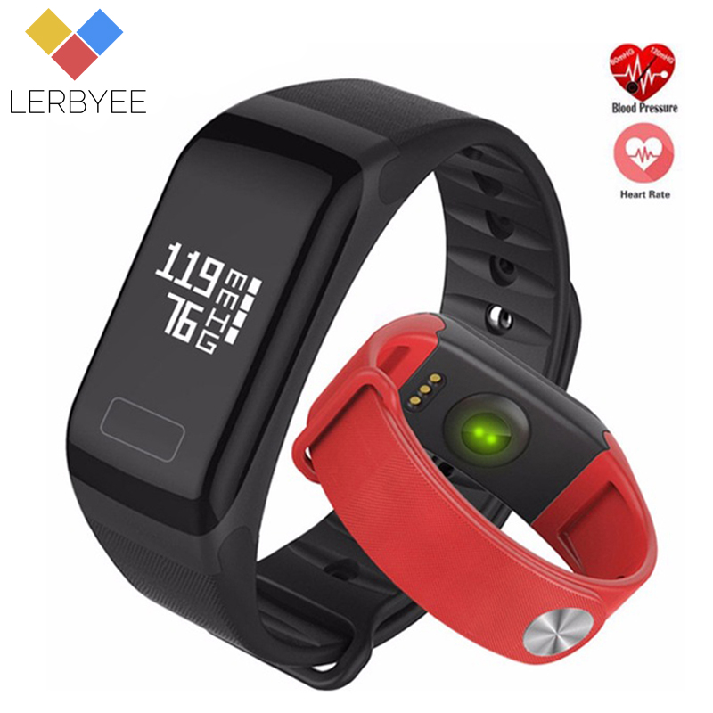 Lerbyee Fitness Tracker Blood Pressure Bluetooth Smart Tracker Sleep Monitor Sport Wristband Men Fashion Watch for IOS Android