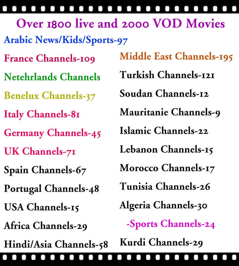 Arabic IPTV France Smart TV Box With 1 year subscription NEOTV PRO Europe  IP TV Benelux Africa Dutch Beligum channels