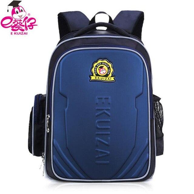 a5ae8359db E-KUIZAI Waterproof Primary School Bags Orthopedic Children School Bag For Teenagers  Girls Boys Reflective Backpacks Class P153