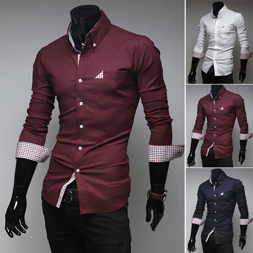 Unique And Fashionable Long Men: Fashion Mens Shirts 2014 Newest Stylish Long Sleeve Dress