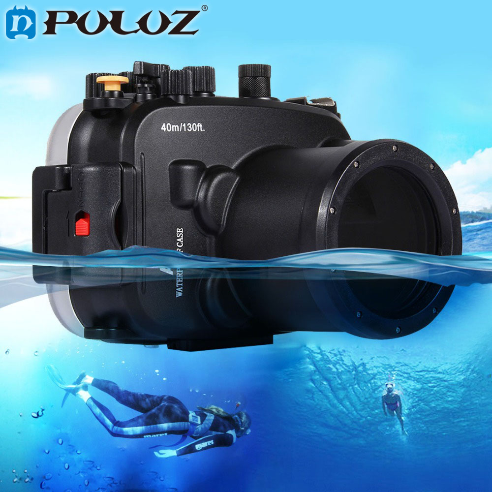 PULUZ 40m 1560inch 130ft Depth Underwater Swimming Diving Case Waterproof Camera bag Housing case for Sony A7 A7S A7R meikon 40m wp dc44 waterproof underwater housing case 40m 130ft for canon g1x camera 18 as wp dc44