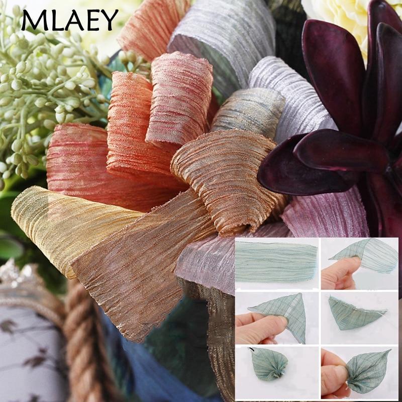 Кружевная лента MLAEY 2 ярда/партия, Полиэстеровая Защитная кружевная ткань, шитье одежды, кружевная отделка, сетчатая лента для упаковки пода...