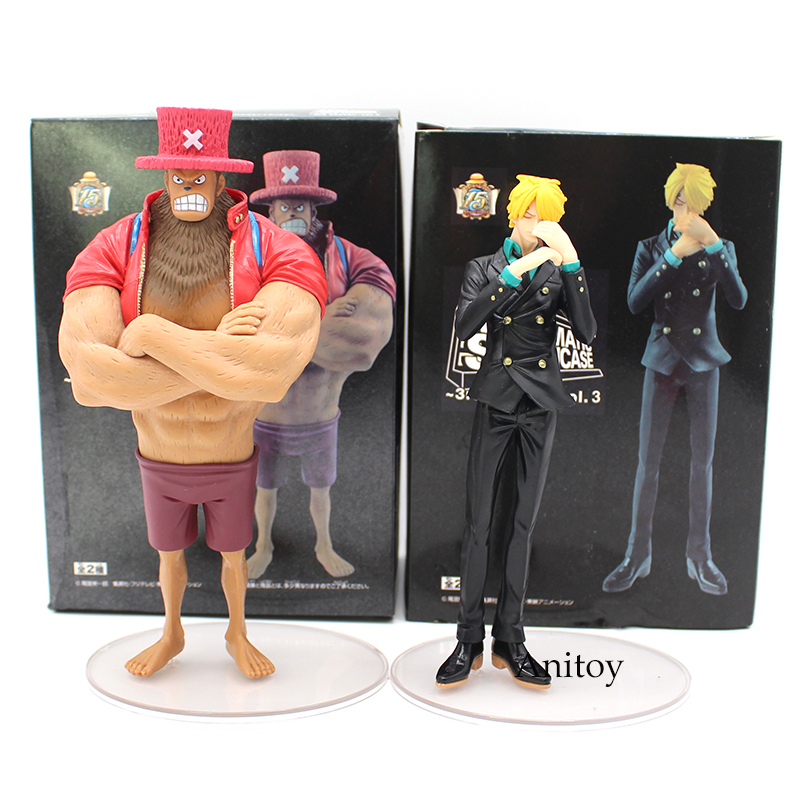 Anime One Piece Dramatic Showcase 3rd season vol.3 Chopper and Sanji Luffy and Robin PVC Figures Collectible Model Toys 2pcs/set namibia vol 3 episode 3