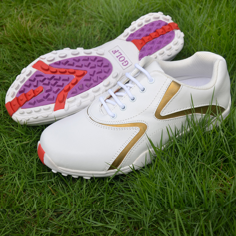 Brand TTYGJ Professional Womens Ladies Girls Women Golf Sports Shoes Light Weight & Steady & Waterproof & Anti-slipping